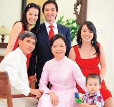 Gia đình bà Mai Thanh