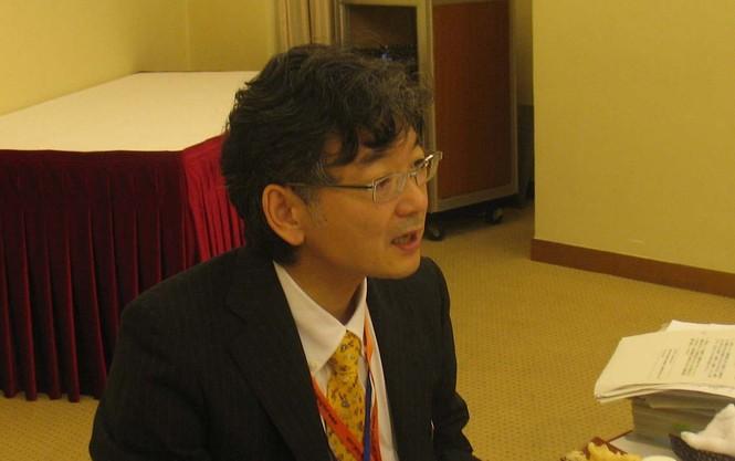 Phát ngôn viên đoàn Nhật Bản bên lề Hội nghị AMM-43 Hidenobu Sobashima             ảnh: Đ.P