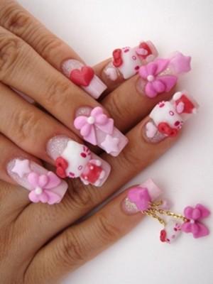 Ngộ nghĩnh với nail 'Hello Kitty' - ảnh 3