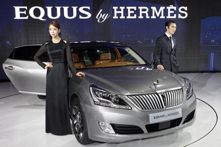 Đẳng cấp thời trang Hermes trên Hyundai Equus - ảnh 1