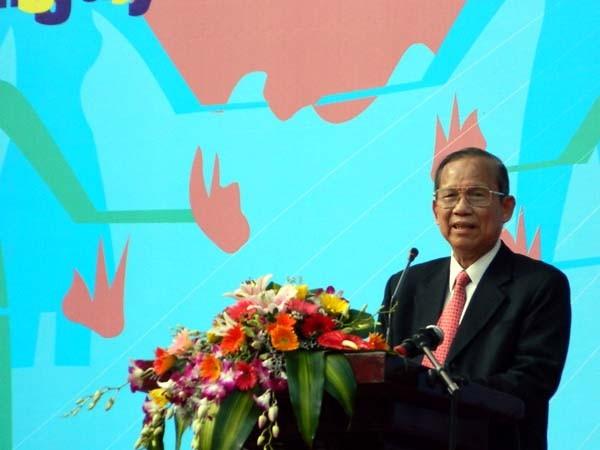 Phó Thủ tướng Trương Vĩnh Trọng phát biểu tại buổi lễ ra quân