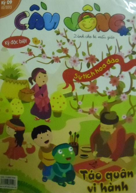 Trang bìa cuốn Cầu vồng, kỳ 9, số Tết Quý Tỵ