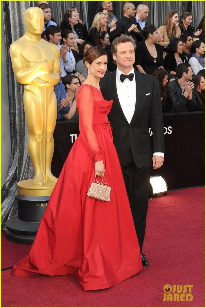 Tài tử người Anh Colin Firth và vợ trên thảm đỏ