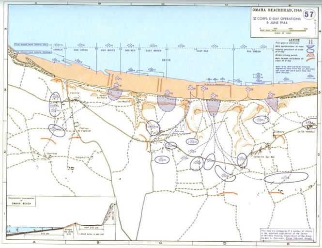 Sơ đồ đổ bộ lên bờ biển Normandi nước Pháp