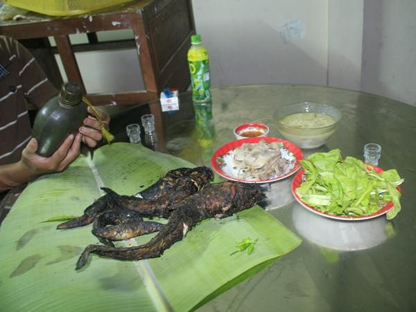 Cá lóc, cá trê nướng trui, đặc sản Nam bộ