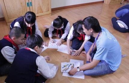 Học sinh Trường tiểu học dân lập Nguyễn Siêu, một trong những trường điểm đầu vào hàng năm. Ảnh:HN