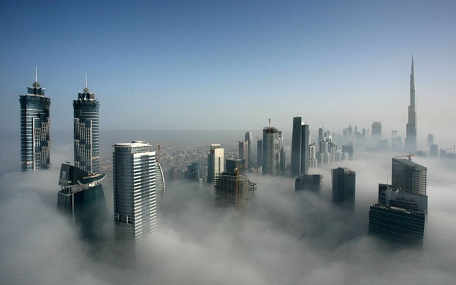 Thành phố Dubai chìm đắm trong sương mù - ảnh 13