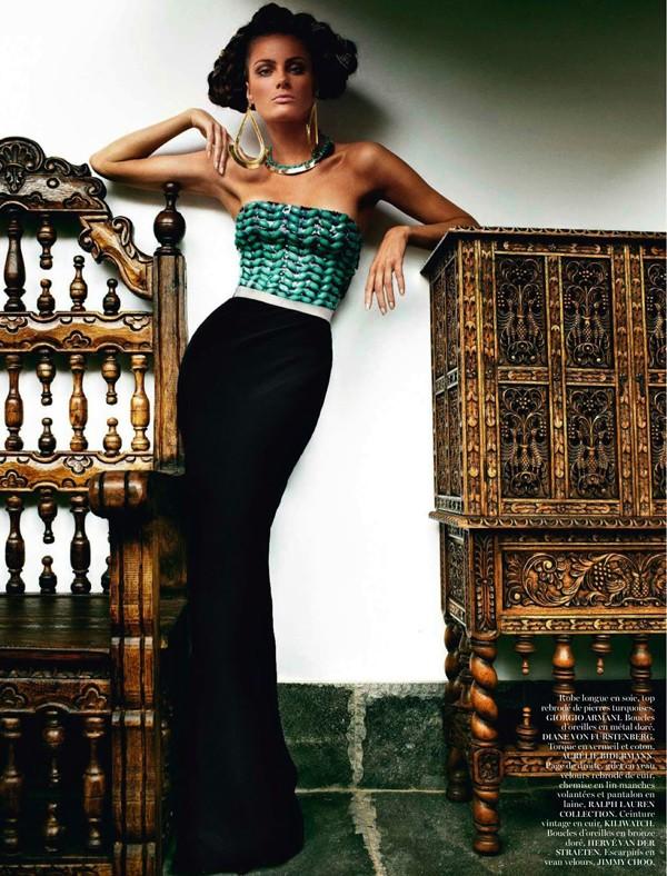 Bộ đôi siêu mẫu nóng bỏng trên Vogue Pháp - ảnh 9