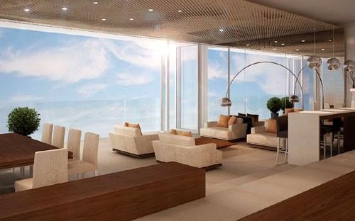 Phối cảnh một căn hộ tại Fusion Suites Danang Beach