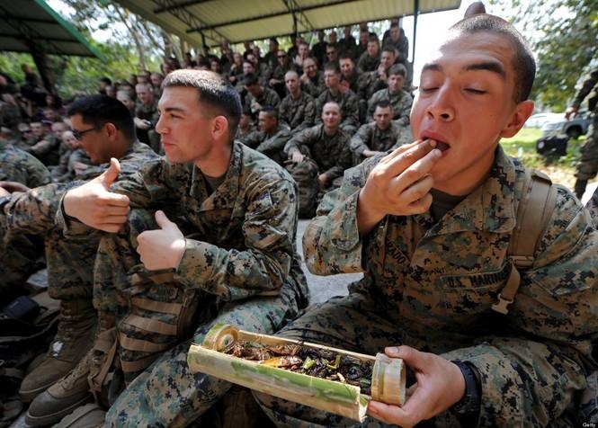 Lính Mỹ luyện uống máu rắn, ăn côn trùng - ảnh 5