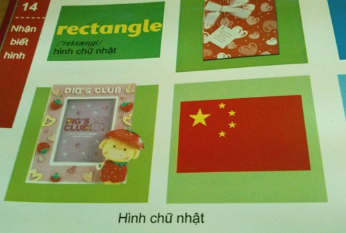 Và hình ảnh cờ Trung Quốc trong cuốn Bách khoa thư đầu đời cho trẻ - Từ điển bằng hình cho trẻ em (trang 14)