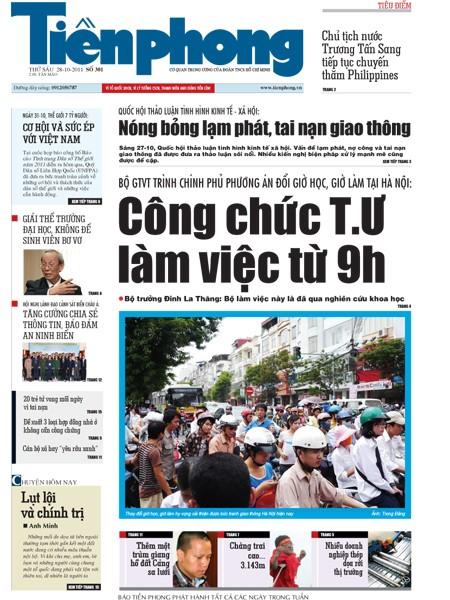 Đón đọc Tiền Phong ngày 28-10 - ảnh 1