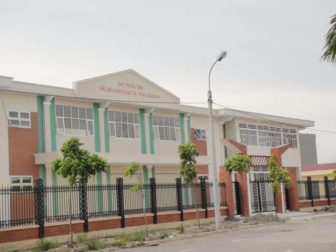 Trung tâm dịch vụ thương mại và nhà ở thị trấn Vân Đình, một trong những dự án bị người dân tố cáo