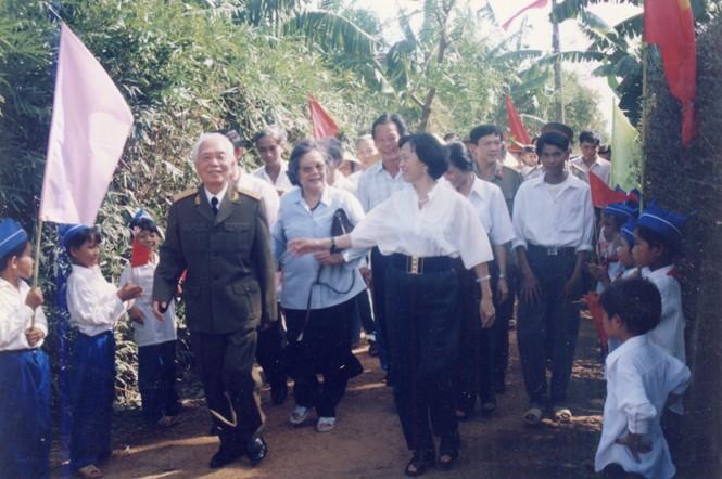 Đường vào nhà Đại tướng ở làng An Xá
