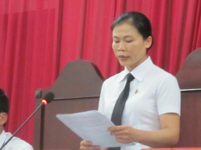 Thẩm phán Chu Lệ Hường, chủ tọa phiên sơ thẩm