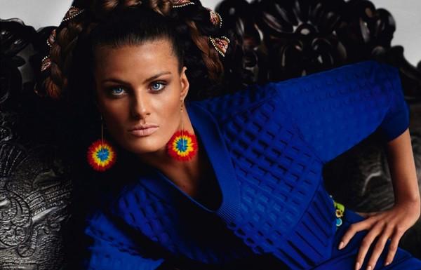 Bộ đôi siêu mẫu nóng bỏng trên Vogue Pháp - ảnh 7