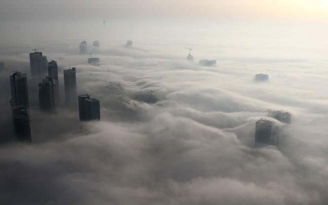 Thành phố Dubai chìm đắm trong sương mù - ảnh 10