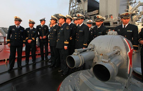 Nga, Trung Quốc tập bắn đạn thật trên biển Nhật Bản - ảnh 1