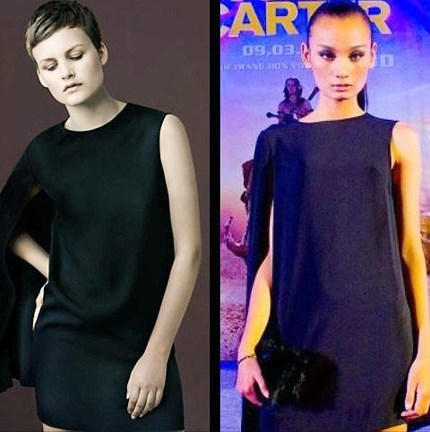 Một trong rất nhiều mẫu váy bị tố đạo thiết kế của Đỗ Mạnh Cường