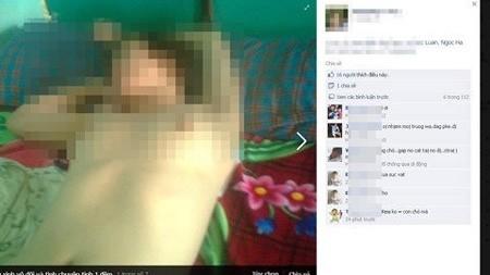 Bức hình cận cảnh cô gái bị chụp. Có người sau             khi xem xong đã cho rằng cô gái bị bỏ             thuốc mê trước khi bị chụp ảnh