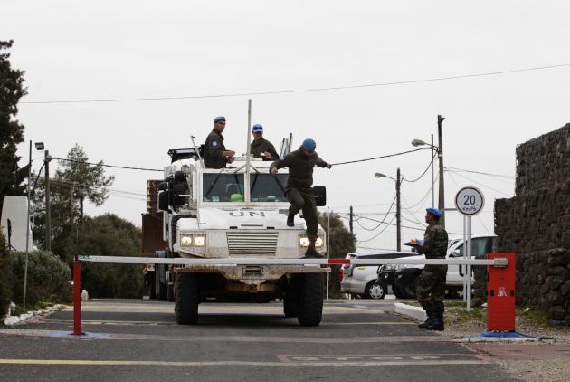 Lực lượng Liên Hợp Quốc trên tuyến biên giới giữa Syria và Israel ở Cao nguyên Golan