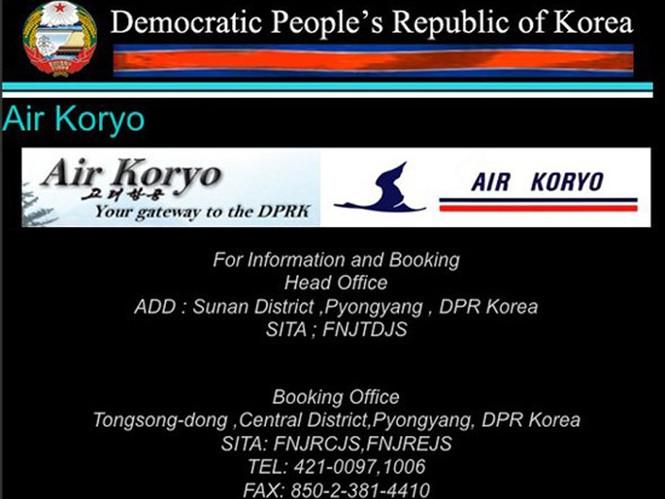 Trang web của Air Koryo nằm chung trong website của chính phủ nước này. Thông tin cũng không có gì nhiều, ngoài số điện thoại và địa chỉ email để khách hàng liên hệ.