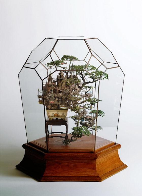 Những lâu đài 'khủng' trên cây bonsai - ảnh 1
