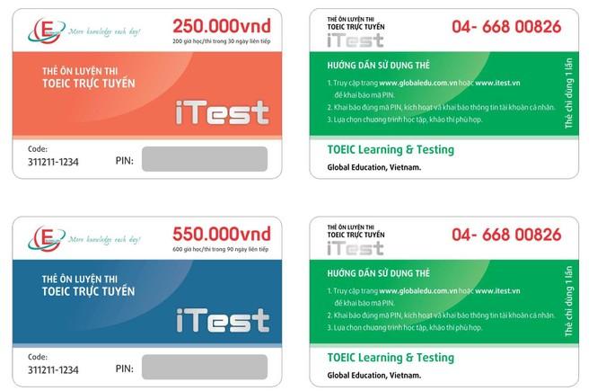 Thẻ ôn thi TOEIC trực tuyến