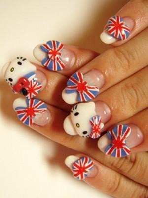 Ngộ nghĩnh với nail 'Hello Kitty' - ảnh 8