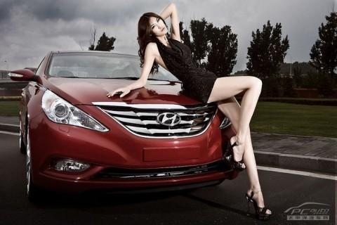 Mỹ nhân khoe sắc bên Hyundai Sonata - ảnh 5