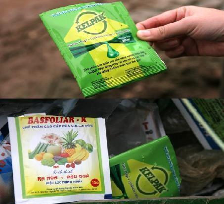 2 trong số các loại thuốc kích thích mà người dân trồng rau đã dùng