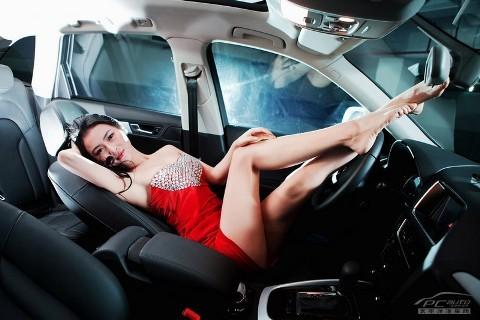 Chân dài đọ nhan sắc với xế hộp Audi - ảnh 13