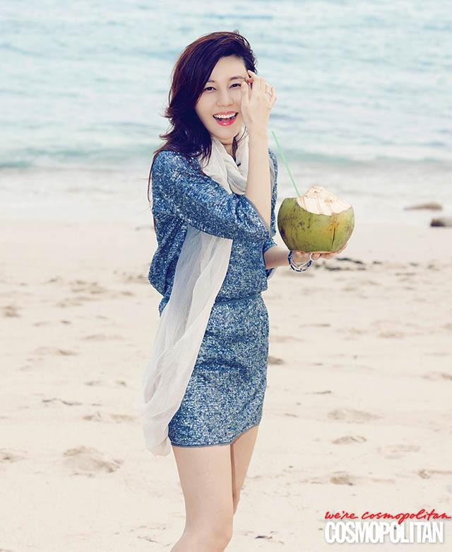 Kim Ha Neul rạng rỡ đón nắng hè tại Bali - ảnh 6