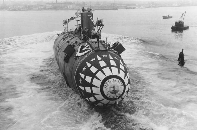 USS Gato (SSN-615), tàu ngầm tấn công lớp Thresher hạ thủy tại Electric Boat ngày 14 tháng 5 năm 1964 (navsource.org). Rất lâu sau này người ta được biết sau cú