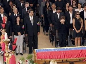 Lễ tang cố Tổng thống Hugo Chavez. Ảnh: EPA