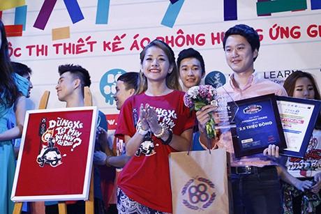 Bất ngờ chiếc áo của Chi Pu lại là thiết kế đoạt giải nhất