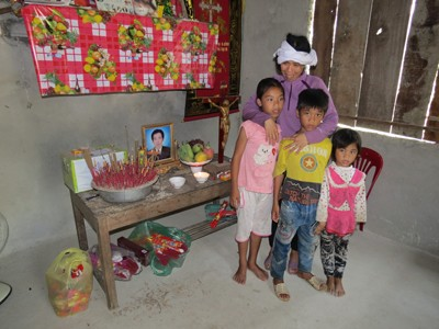 Nạn nhân Trần Văn Trị ra đi để lại mẹ già, vợ và 3 đứa con nhỏ