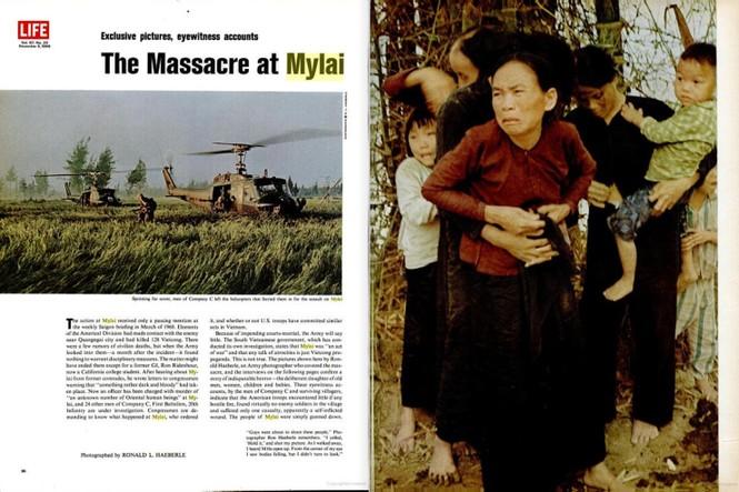 Những bài báo viết về vụ thảm sát Mỹ Lai, tỉnh Quảng Ngãi, Việt Nam xuất hiện trên tạp chí Life của Mỹ