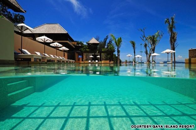 Khu nghỉ dưỡng ở đảo Gaya, Malaysia là điểm du lịch tuyệt đẹp mà du khách không thể bỏ qua khi tới Malaysia