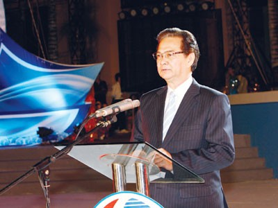 Thủ tướng Nguyễn Tấn Dũng phát biểu tại buổi lễ