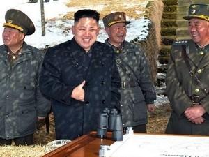 Lãnh đạo Triều Tiên Kim Jong-Un thị sát đơn vị lực lượng đặc biệt. Ảnh: KCNA