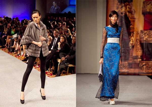 Tuyết Lan và Hoàng Thùy ấn tượng trên sàn diễn Couture Fashion Week New York
