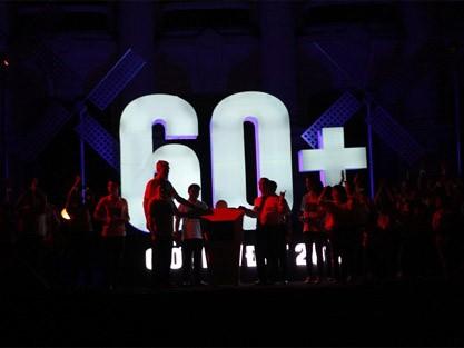 Khoảnh khắc tắt điện bắt đầu Giờ Trái đất ở Hà Nội.