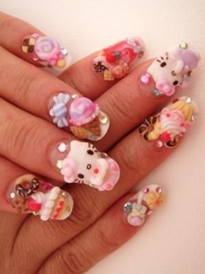 Ngộ nghĩnh với nail 'Hello Kitty' - ảnh 9