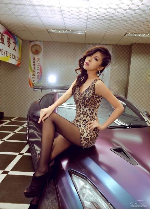 'Báo gấm' tạo dáng bên Nissan GTR - ảnh 11