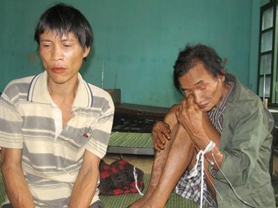 Cha con ông Hồ Văn Thanh – Hồ Văn Lang tại Trung tâm y tế huyện Tây Trà