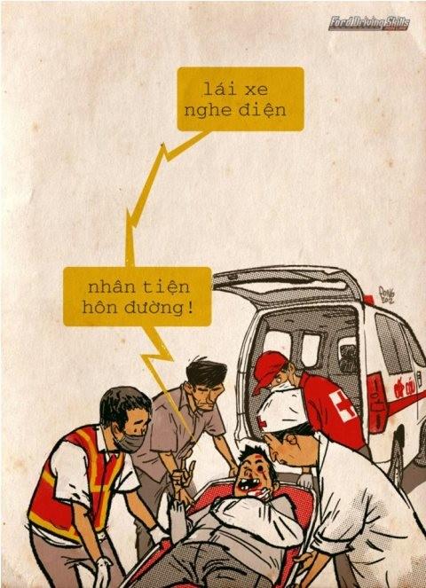 Lái xe nghe điện thoại, mất tập trung và dễ tai nạn