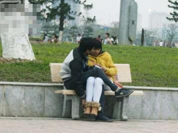 Những cảnh như thế này không hiếm ở các công viên tại Hà Nội