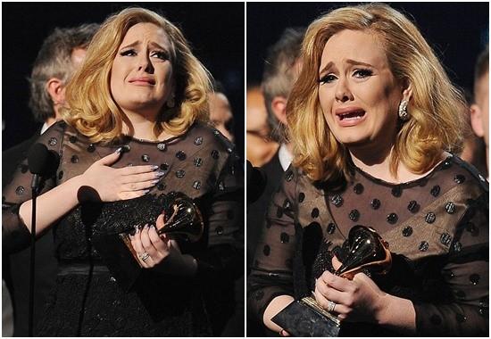 Adele xúc động khi nhận giải