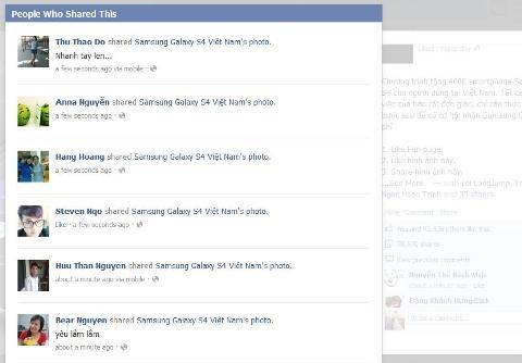 Lượng like và share bức ảnh vẫn tăng lên từng giây